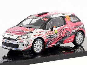 Citroen DS3 R3 #100 Rally Monte Carlo IRC 2011 Elena, Campana 1:43 Ixo