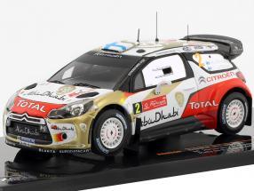 Citroen DS3 WRC #2 Rally de Portugal 2013 Hirvonen / Lehtinen 1:43 Ixo