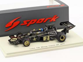 Ronnie Peterson Lotus 72E #2 Winner French GP formula 1 1973 1:43 Spark