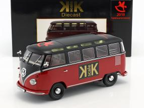 "Volkswagen VW Bulli T1 Samba ""Toy Fair Nürnberg 2019"" year 1962 red / black 1:18 KK-Scale"