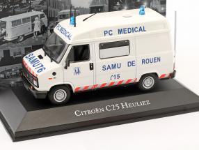 Citroen C25 Heuliez Ambulance Baujahr 1984 weiß 1:43 Atlas