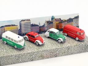 4-Car Set Vintage S.O.S police & fire Department Gift Pack 1:64 Majorette