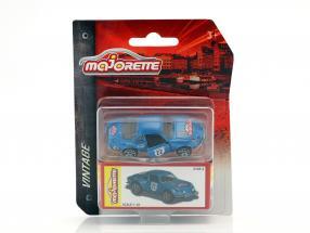 Renault Alpine A110 Racing #22 Vintage Box blau metallic 1:64 Majorette