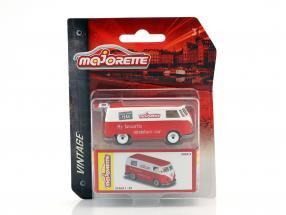 Volkswagen VW T1 Bus Vintage Box red / White 1:64 Majorette