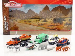 Big Explorer Theme Set Geschenkpackung 14-teilig 1:64 Majorette