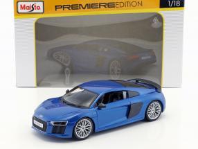 Audi R8 V10 Plus Baujahr 2015 blau 1:18 Maisto