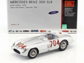 Mercedes Benz 300 SLR #704  Mille Miglia 1955 Hans Hermann 1:18 CMC