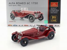 Alfa Romeo 6C 1750 Gran Sport Year 1930 dark red 1:18 CMC
