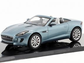 Jaguar F-Type V8-S Cabriolet year 2013 satellite grey 1:43 Ixo