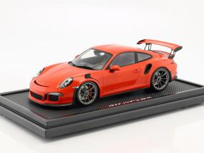 Porsche 911 (991) GT3 RS lava orange with showcase 1:12 Spark
