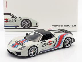Porsche 918 Spyder #23 Martini Design white / red / blue 1:18 Welly