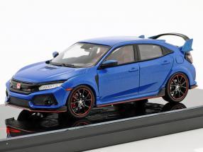 Honda Civic Typ R LHD Baujahr 2017 aegean blau metallic 1:43 TrueScale