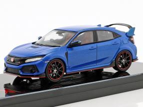 Honda Civic Typ R RHD Baujahr 2017 aegean blau metallic 1:43 TrueScale
