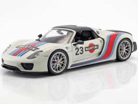 Porsche 918 Spyder #23 Martini Design white / red / blue 1:18 Welly