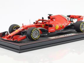 Sebastian Vettel Ferrari SF71H #5 Winner Australien GP Formel 1 2018 mit Vitrine 1:18 BBR