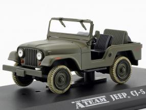 Jeep CJ-5 TV series The A-Team (1983-87) army green 1:43 Greenlight
