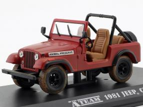 Jeep CJ-7 TV series The A-Team (1983-87) red 1:43 Greenlight