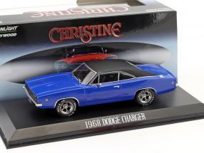 Dennis Guilder's Dodge Charger year 1968 Movie Christine (1983) blue / black 1:43 Greenlight