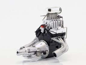 Gasser Dragster Kleinblockmotor mit Getriebe 1:18 GMP