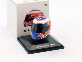 Jenson Button McLaren Honda formula 1 2016 helmet 1:8 Spark