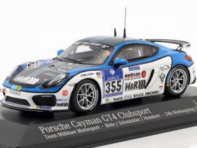 Porsche Cayman GT4 Clubsport #355 24h Nürburgring 2016 Mühlner Motorsport 1:43 Minichamps
