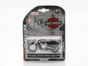 Harley Davidson VRSCR Street Rod year 2006 silver / black 1:24 Maisto