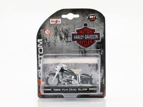 Harley Davidson FLH Duo Glide year 1962 black 1:24 Maisto
