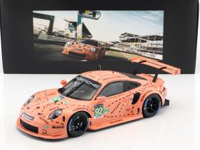 Porsche 911 (991) RSR #92 Pink Pig Tribute 24h LeMans 2018 Porsche GT team 1:18 with showcase Spark