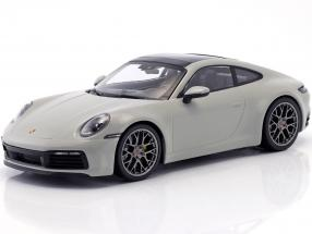 Porsche 911 (992) Carrera 4S year 2019 chalk gray 1:18 Minichamps