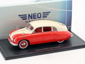 Tatra T600 Tatraplan Baujahr 1948 rot / creme weiß 1:43 Neo