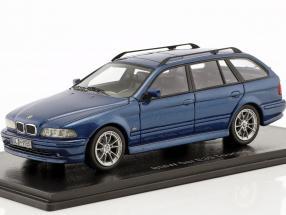 BMW 520 Touring (E39) year 2002 blue metallic 1:43 Neo