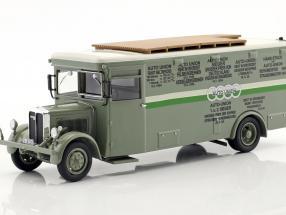 NAG Büssing Renntransporter Auto Union grün / weiß 1:43 Neo