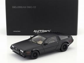 DeLorean DMC-12 Year 1981 mat black 1:18 AUTOart