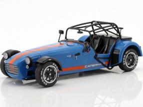 Caterham Seven 275R year 2014 blue / orange 1:18 Solido