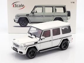 Mercedes-Benz G-Class (W463) year 2015 polar white 1:18 iScale