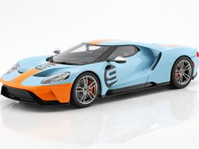 Ford GT Heritage Edition 2019 Gulf #9 blue / orange 1:18 GT-Spirit