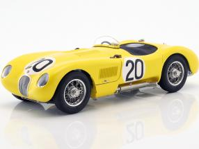 Jaguar C-Type #20 24h LeMans 1953 Laurent, de Tornaco 1:18 CMC