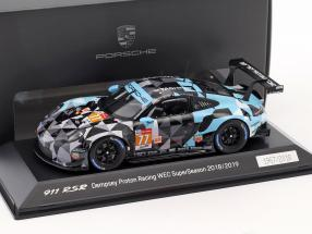 Porsche 911 (991) RSR #77 WEC SuperSeason 2018/2019 Dempsey Proton Racing 1:43 Spark
