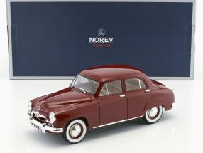 Simca 9 Aronde year 1953 amaranth red 1:18 Norev