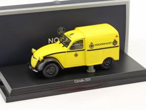 Citroen 2CV AZU Wegenwacht year 1959 yellow 1:43 Norev