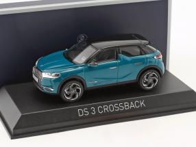 Citroen DS 3 Crossback year 2019 turquoise metallic / black 1:43 Norev