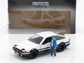 Toyota Trueno (AE86) from Manga TV series Initial D with figure Takumi 1:24 Jada Toys