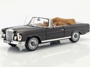 Mercedes-Benz 280 SE Cabriolet with removable Top year 1969 brown 1:18 Norev