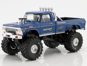 Ford F250 year 1974 Bigfoot #1 Original Monster Truck blue 1:43 Greenlight