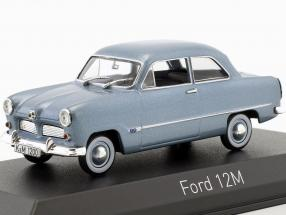 Ford 12M Construction year 1954 blue metallic 1:43 Norev