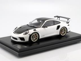 Porsche 911 (991 II) GT3 RS Weissach Package 2018 white with showcase 1:12 Spark