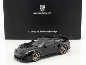 Porsche 911 (991 II) GT3 RS Weissach Package 2018 black with showcase 1:18 Spark