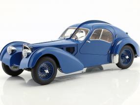 Bugatti 57S Atlantic 1938 blue with spoked wheels 1:18 AutoArt