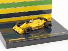 A. Senna Lotus Honda 99T 1st Victory GP Monaco formula 1 1987 1:43 Minichamps