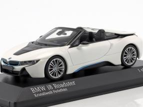 BMW I8 Roadster (I15) year 2018 white metallic 1:43 Minichamps